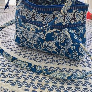 Quilted Vera Bradley bag.